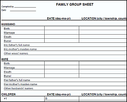 Family Group Sheet